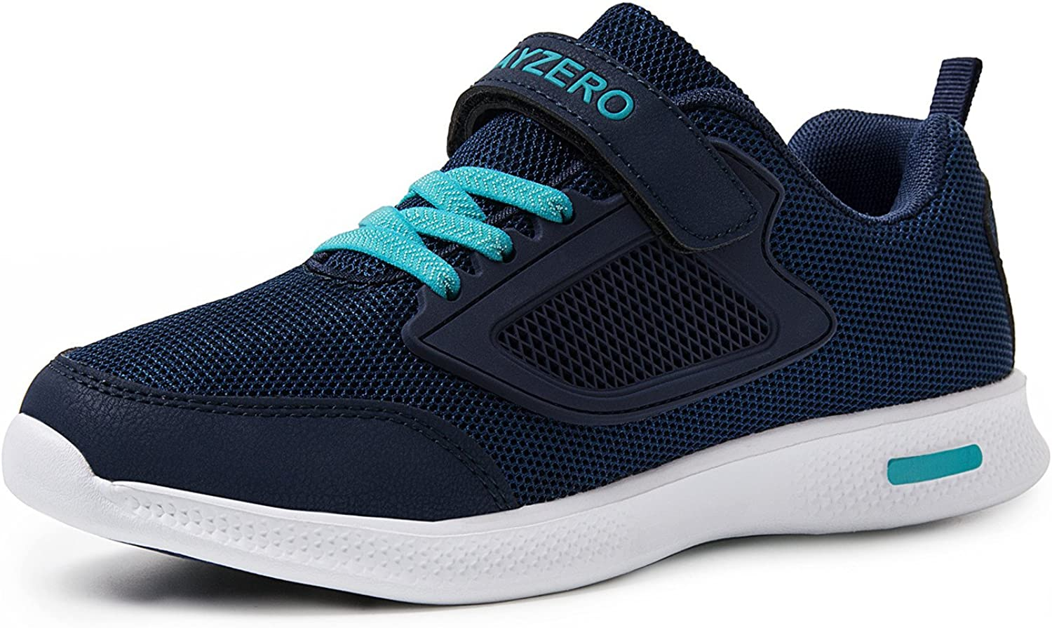 Vivay Boys Girls Lightweight Tennis shoes Kid's Breathable Casual Running Sneakers Anti-Collision Toe