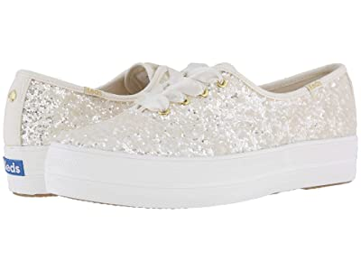 Keds x kate spade new york Bridal Triple Glitter (Cream Glitter) Women