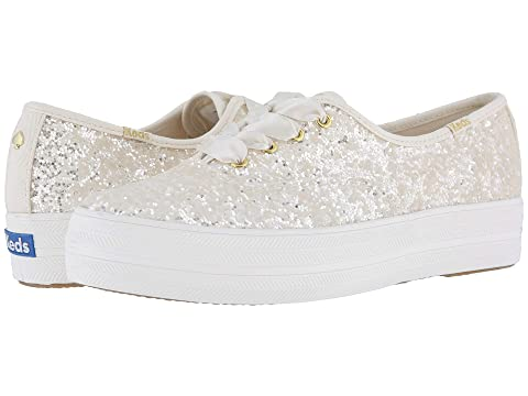 67b9f73f5273 Keds x kate spade new york Bridal Triple Glitter at Zappos.com