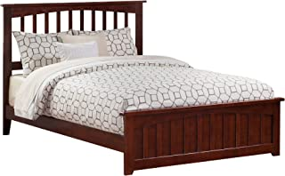 Atlantic Furniture Mission Traditional Bed with Matching Foot Board, Queen, Walnut