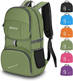 Lightweight Backpack for School, Water Resistant Foldable School Bags Hiking Daypack for Travel Outdoor Camping with Bottle Side Pockets
