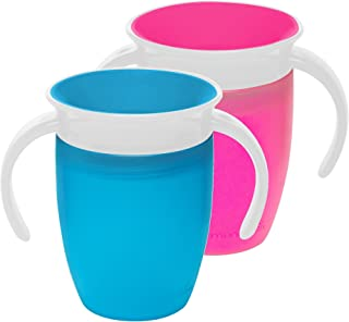 Munchkin Miracle 360 Trainer Cup, Pink/Blue, 7 Ounce, 2 Count