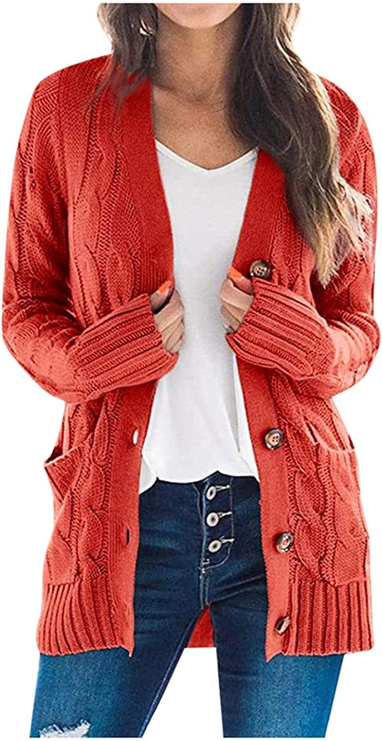 Sweaters for Women Cardigans Plus Size Cardigan Sweaters Open Front Chunky Knit Cardigan Lightweight Duster Cardigan