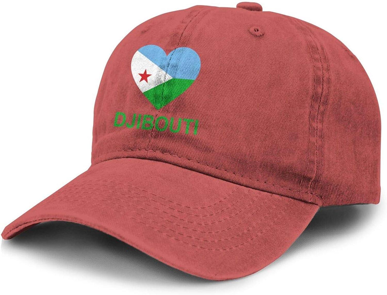 Love Djibouti Adult Curved Brim Baseball Hat Sports Cowboy Cap