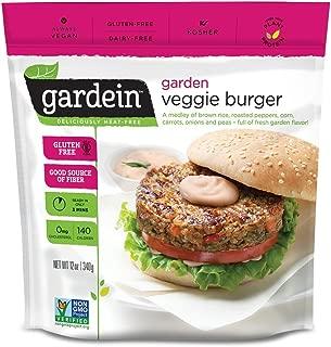 Gardein Garden Veggie Burgers, Meatless Protein Packed Patties, Non-GMO Project Verified, 4 Pack (Frozen)