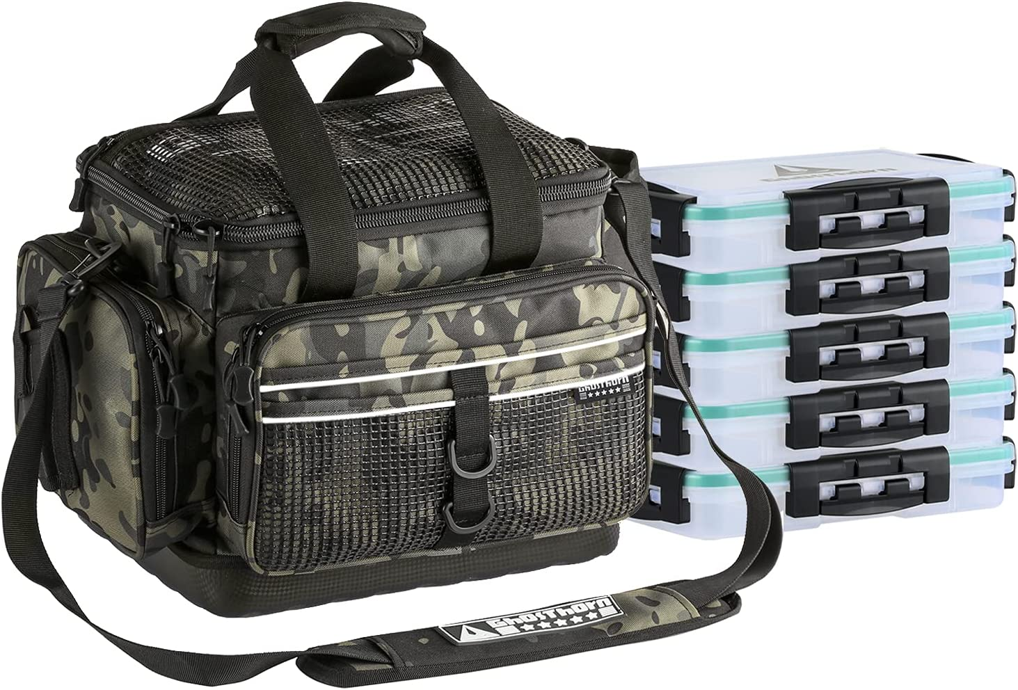 Cheap mail order sales Fishing Tackle Bag Box with 5 Trays Nippon regular agency Water Res