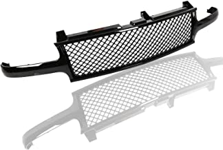 AA Products Luxury Sport Mesh Grille Compatible Chevy Silverado 1500 2500 1999 up to 2002 / Tahoe/Suburban 2000 up to 2006 ABS Replacement Front Grille with Shell Gloss Black