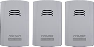 First Alert WA100-3 Water Alarm for Leak Detection and Flood Alerts, 3-Pack
