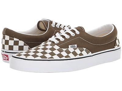 Vans Eratm ((Checkerboard) Beech/True White) Skate Shoes