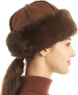 FLY HAWK Womens Bucket Hats, Warm Fuzzy Lined Cloche Beanies Lightweight Cold Weather Chunky Skull Caps for Autumn Winter