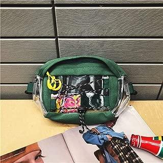 YWSCXMY-AU Fashion PVC Transparent Fanny Pack Waist Bag Unisex Travel Phone Belt Bag Pouch Chest Bag (Color : Green)