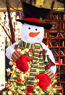 JBENG Snowman Christmas Tree Toppers Free Cotton Stuffing Snowman Tree Topper Treetops, Large Snowman Christmas Tree Ornaments Home Décor, Great Tree Topper Ideas Ornamental Trees