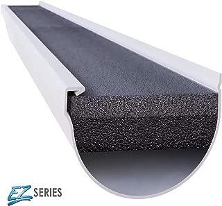 GUTTERSTUFF EZ Gutter Guard - 6-Inch Half Round Style Foam Gutter Filter Insert with Year Round Leaf Protection & Easy DIY Installation - 8 x 4' (32-feet)