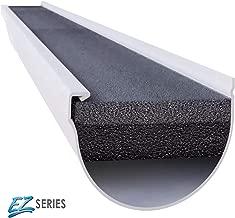 GUTTERSTUFF EZ Gutter Guard - 5-Inch Half Round Style Foam Gutter Filter Insert with Year Round Leaf Protection & Easy DIY Installation - 8 x 4' (32-feet)