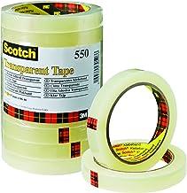 Scotch 5501566 plakband 550 (polypropyleenfolie, 15 mm x 66 m) 10 rollen transparant