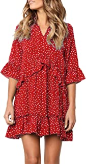 Best womens casual red dress Reviews