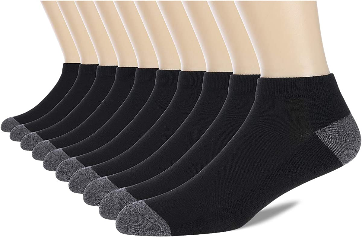 COOVAN Max 46% OFF 10 Pairs Mens Cushion Ankle Socks Low Men Cut Com Pack Fixed price for sale