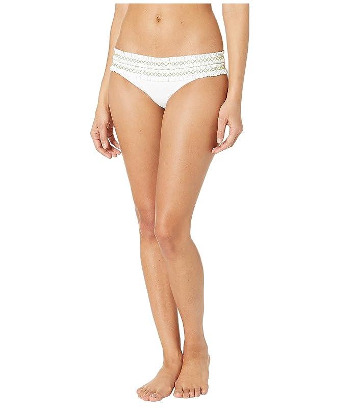 Tory Burch Swimwear Costa Hipster (White/Jardin Green) Women