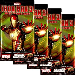 Marvel's Iron Man 3 Movie Trading Card Booster - Four (4) Packs