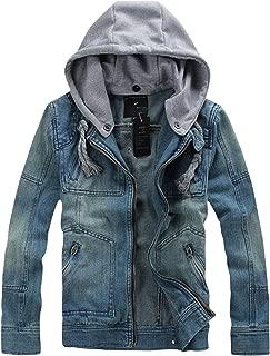 Men's Casual Slim Fit Hooded Denim Jacket