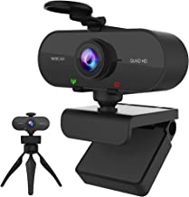 Webcam with Microphone 2K HD USB Web cam Light for Laptop Computer Camera Privacy Cover Tripod,USB Plug & Play on Windows ...