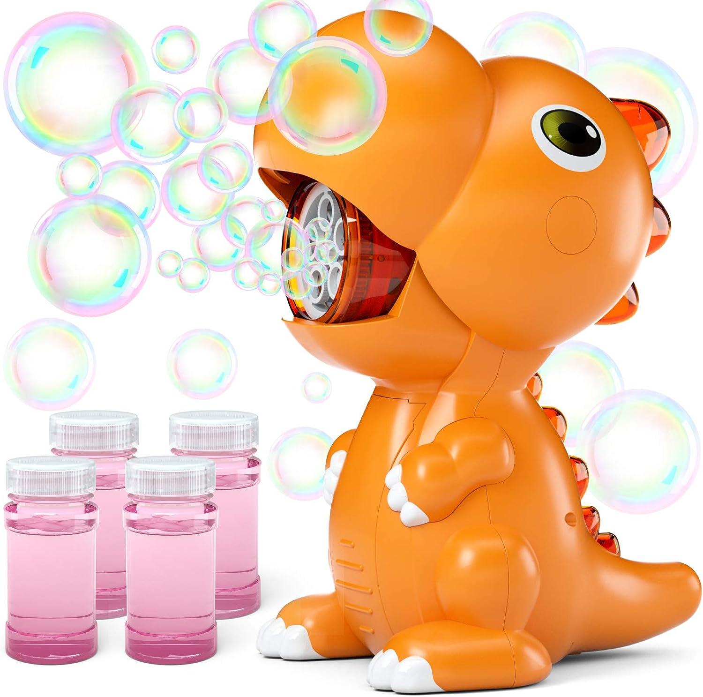 Jasonwell 与え Bubble Machine for Kids - Bl Automatic 期間限定送料無料 Dinosaur