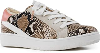 RF ROOM OF FASHION Women's High and Low Top Lace up Fashion Platform Sneakers - Trendy Flatform Creepers - Flat Shoes