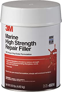 3M 46014 128 Ounces) Marine High Strength Repair Filler - For Boats and RVs - White - 1 Gallon