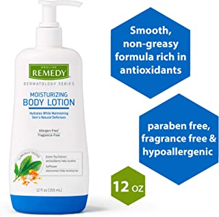 Remedy Dermatology Series Body Lotion for Dry Skin, 12 Fl Oz, Unscented Lotion for Women & Men, Paraben Free, Eczema Lotion for Sensitive Skin
