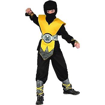 Disfraz ninja amarillo niño - 10 - 12 años: Amazon.es: Juguetes y ...