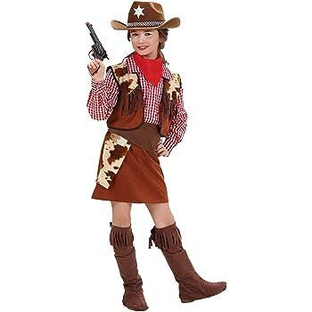 WIDMANN Disfraz de niña vaquera, cowgirl, para niñas de 5 a 7 años ...
