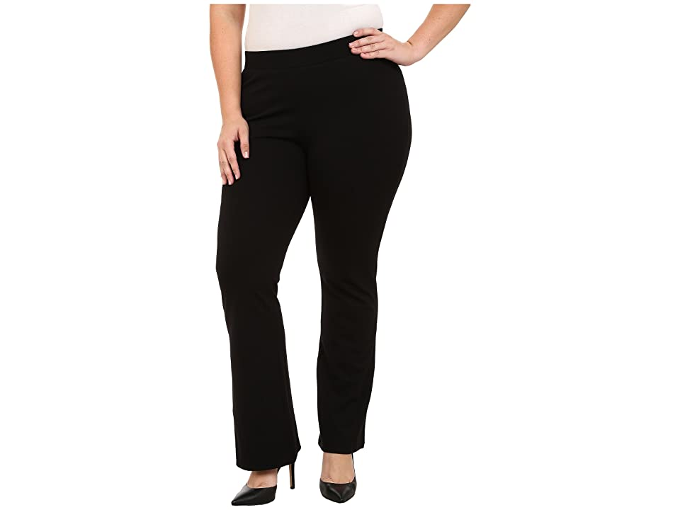 Vince Camuto Specialty Size Plus Size Flared Leggings (Rich Black) Women