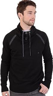 BRAVE SOUL Mens High Neck Black Winter Jumper Sweater Sweatshirt Size X-Large