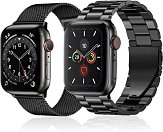 baklon 2 sztuki, bransoletka kompatybilna z Apple Watch, 38 mm, 40 mm, 41 mm, 42 mm, 44 mm, 45 mm, stal nierdzewna, metal,...