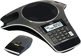 VTech VCS702A Eris Station Conference Phone with 2 Wireless Microphones, Black
