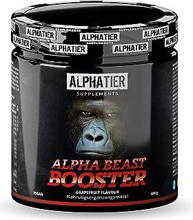 Pre-Workout BOOSTER - hoog gedoseerd + veganistisch - Alpha Beast Shake - cafeïne, citrulline, L-arginine, creatine, ß-ala...