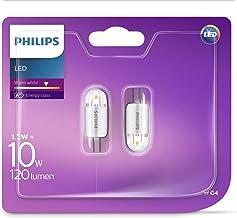 2 x Philips LED 1.2W - 10W A++ G4 Capsule Light Bulb Warm White