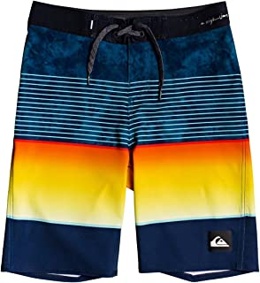 Quiksilver Big Boys' Highline Slab Youth 18 Boardshort Swim Trunk, Crystal Teal, 26/12