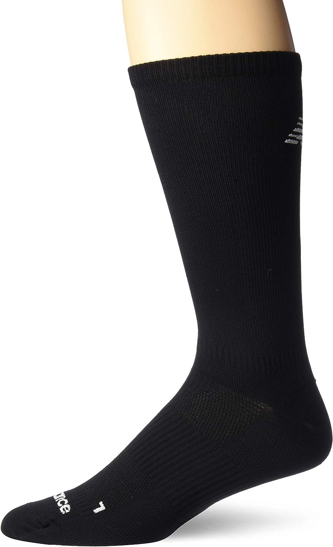 New Balance unisex-adult 1 Pack Run Foundation Flat Knit Crew Socks