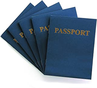 """Hygloss Products Blank Passport Book - Fun Pretend Activity for Kids - Great for Classrooms & Parties - Imaginary Travel - Little Travelers Pocket Journal - 24 Blank Pages - 4 ¼"""" X 5 ½"""" - Pack of 24 Books"""