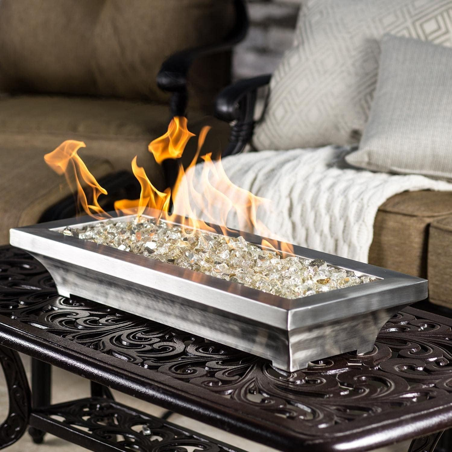 BBQGuys Signature Lavelle 18-Inch Milwaukee Mall Max 75% OFF Table-Top Pit Fire Gas Natural