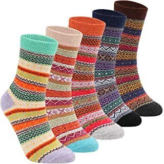 Womens Super Thick Wool Socks - Soft Warm Comfort Casual Crew Winter Socks (Pack of 3), Multicolor