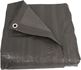 Sunnydaze 30x40 Waterproof Tarp, Heavy Duty Multi-Purpose, Outdoor Reversible, Dark Gray