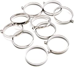 WSSROGY 10PCS 25mm Round Open Back Bezel Pendant, Zinc Alloy Round Frame Pendant Open Back Frame with 1 Loop for Jewelry Making, Silver