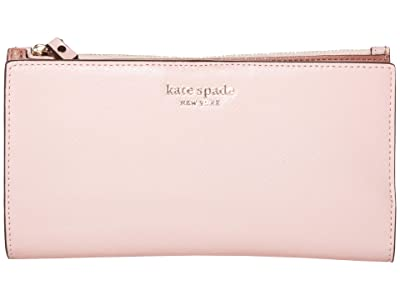 Kate Spade New York Spencer Continental Wristlet (Tutu Pink) Handbags