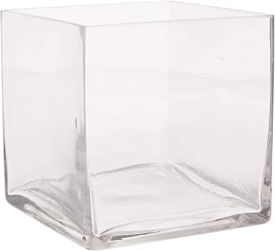 Darice DC-1 Glass Vase Square Clear Times 4.72