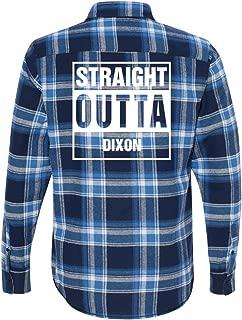 Straight Outta Dixon Flannel: Unisex Plaid Flannel Shirt