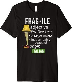 Funny Christmas Fragile Major Award Leg Lamp Shirt