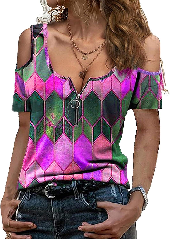 Symptor Women's Plus Size Crewneck Long Sleeve Blouse Sequin Patchwork Loose Swing Tunic Top