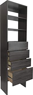 Modular Closets Shelf Tower System with Solid Wood Dovetail Drawers (30